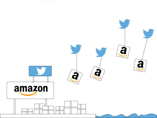 Twitter e Amazon, la partnership continua e funziona