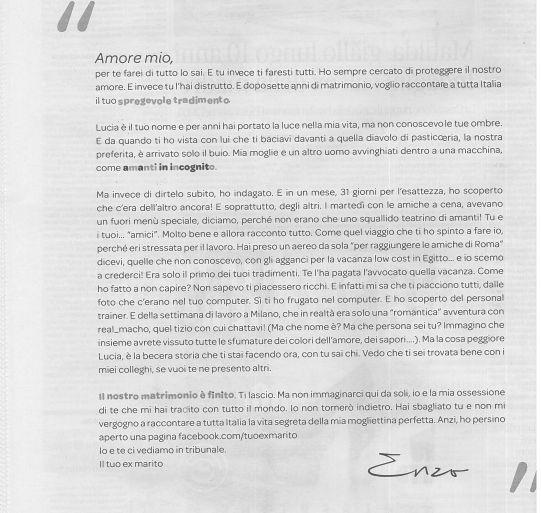 Nuova campagna teaser: lettera su un presunto tradimento