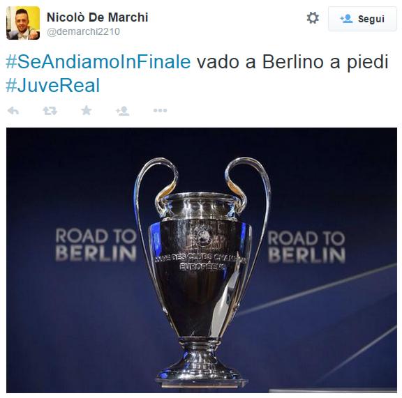 Da Torino a Berlino a piedi per la finale di Champions: tutta colpa di un hashtag!