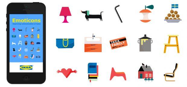 usare gli emoji nel social media marketing: il set di Ikea