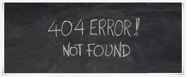 Pagina 404: così il messaggio d'errore diventa creativo e punta alla brand image