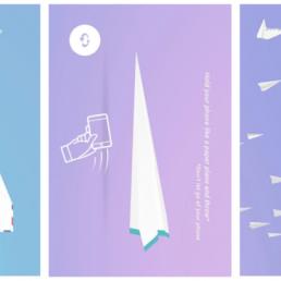 Lanciare aeroplanini di carta virtuali? Con un'app si può