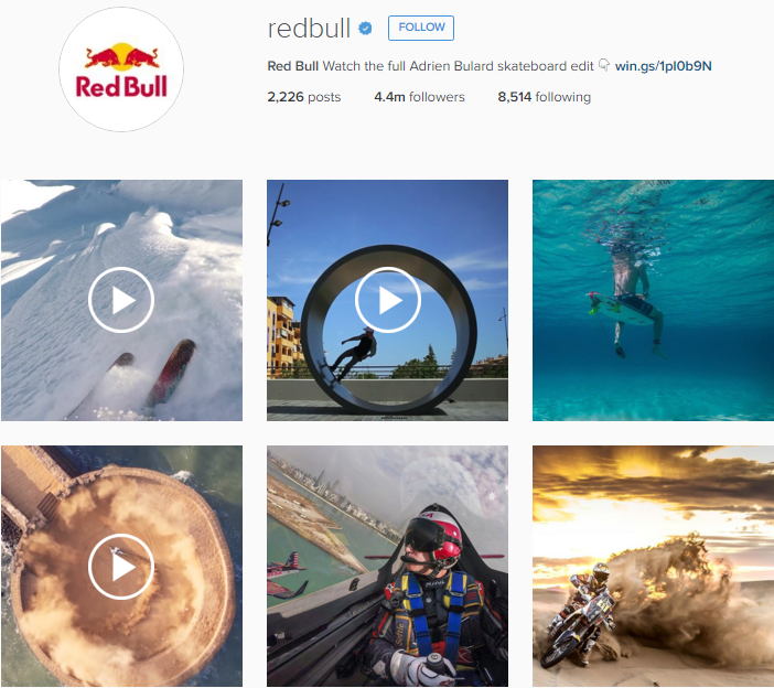 red bull instagram