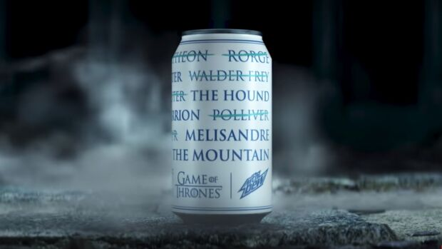 strategie di promozione di Game of Thrones licensing mountain dew
