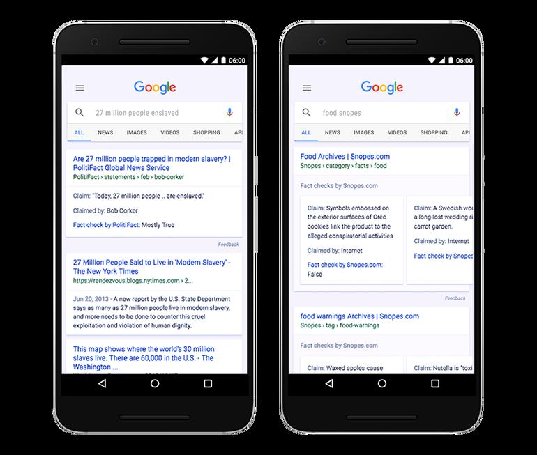iniziative contro le fake news google factchecking
