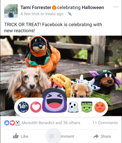 facebook reaction halloween