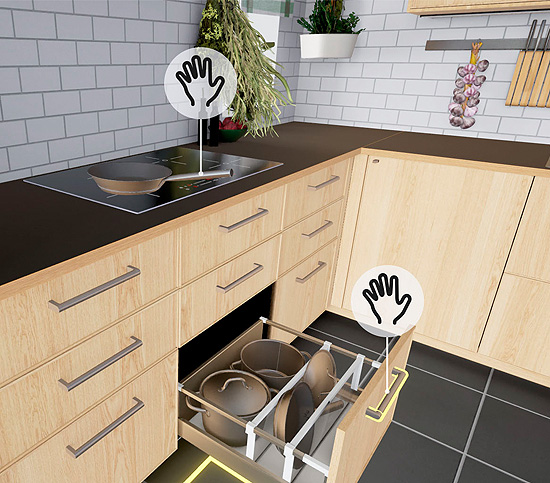 Cucina IKEA in realtà virtuale.