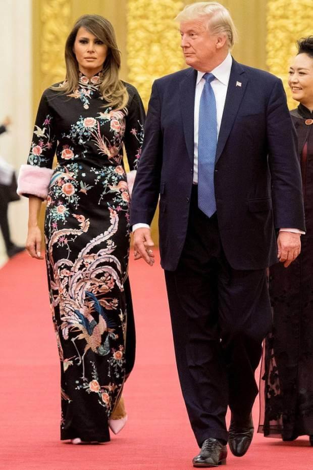 come si vestono i politici melania trump in Cina