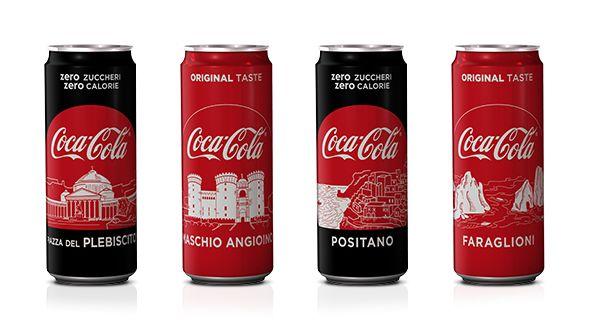 Coca-Cola e la Campania: lattine e bottiglie personalizzate come omaggio al territorio