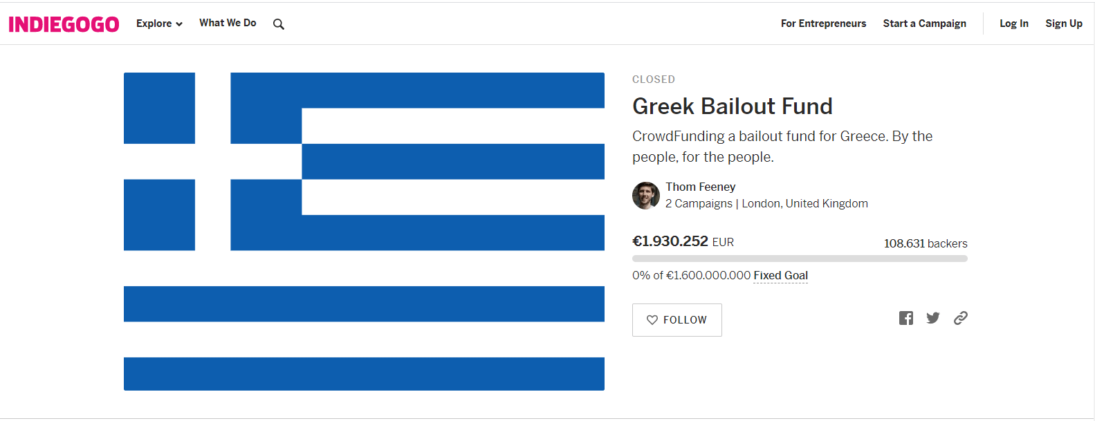crowdfunding contro grexit