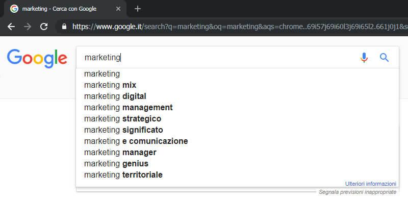 suggestion tool google