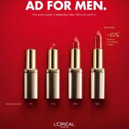 La campagna di L'Oréal rivolta agli uomini