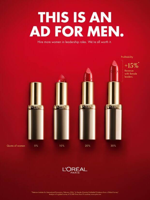 La campagna di L'Oréal rivolta agli uomini: perché la leadership femminile è essenziale per l'azienda
