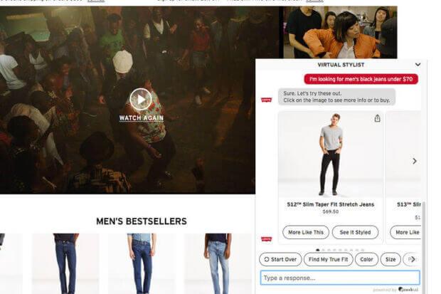 AI per il fashion chatbot Levi's