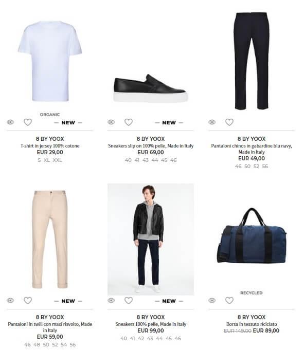 AI per il fashion collezione Yoox
