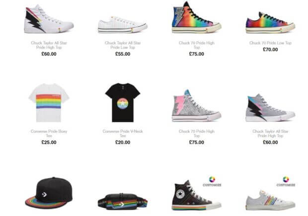 show your pride converse gay pride 2019