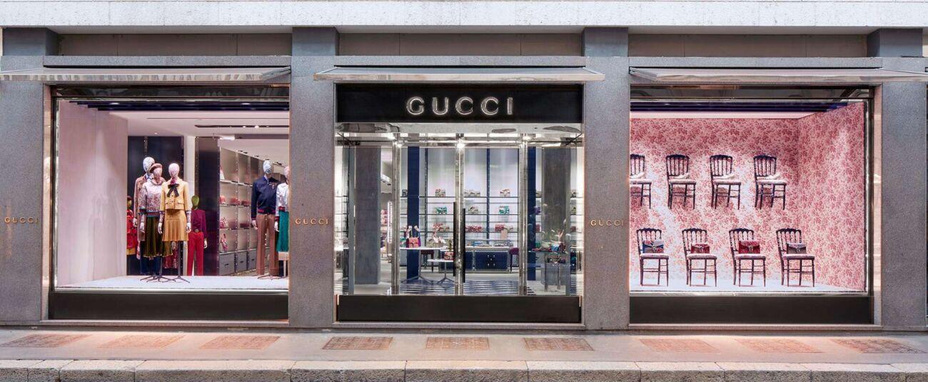 Flagship store di Gucci a Milano.