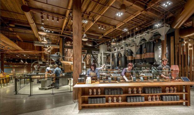 Flagship store di Starbucks a Seattle.