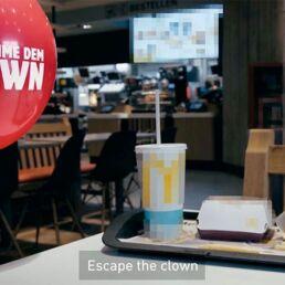 Campagna di Burger King #EscapeTheClown per It