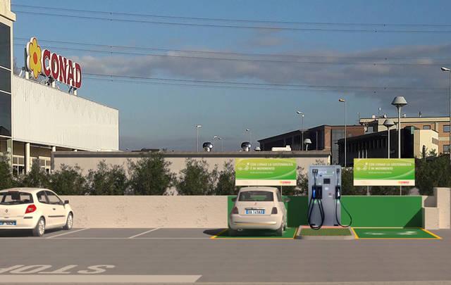 McDonald's stazioni di ricarica per auto elettriche CONAD ENEL