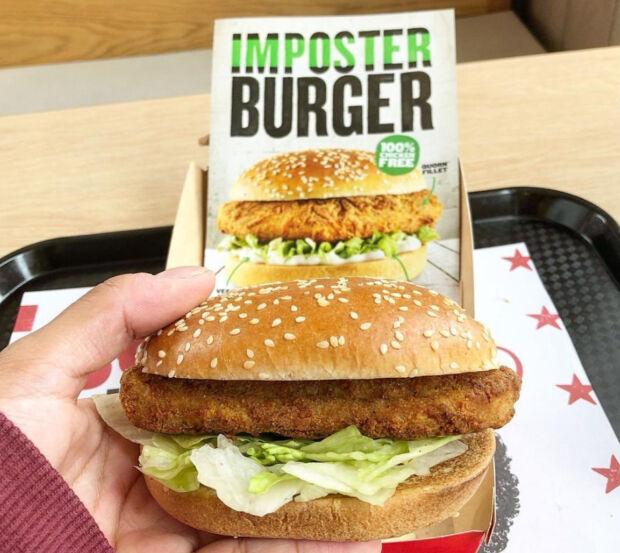 the imposter hamburger vegano KFC