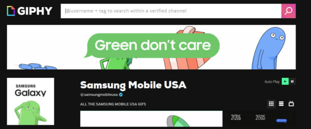 Campagna Samsung Green Don't Care