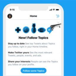 Aggiornamenti Twitter 2019: Twitter Topics