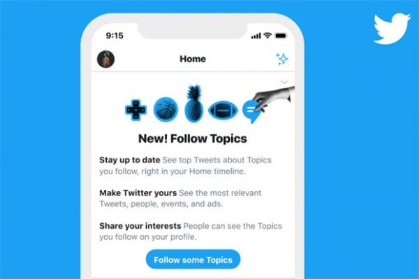 Arriva la nuova funzione Twitter Topics