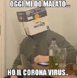 coronavirus birra meme