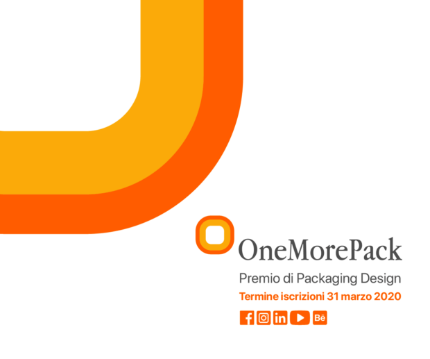 OneMorePack 2020: premio nazionale di packaging design