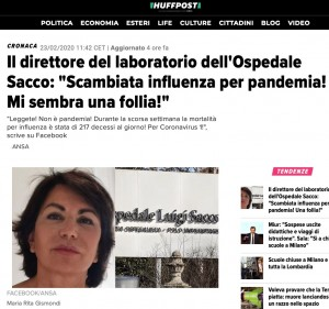 coronavirus virgolettati sui giornali italiani altra versione
