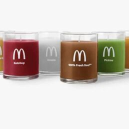 Le candele di McDonald's al profumo di panino