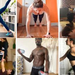Campagna di nike applicazioni per allenamento in casa