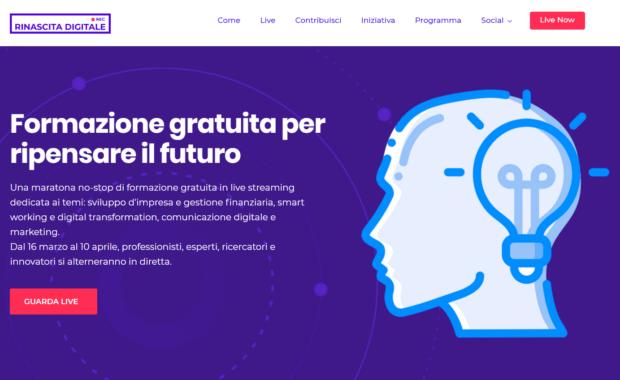 Un'iniziativa di formazione online e gratuita per una Rinascita Digitale del Paese