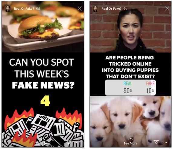 sondaggi nelle storie di Instagram BuzzFeed