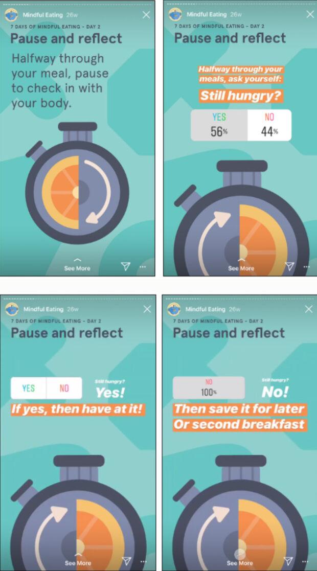 sondaggi nelle storie di Instagram Headspace