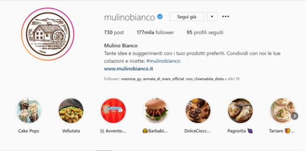 sondaggi nelle storie di Instagram Mulino Bianco