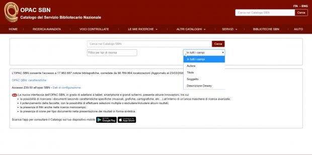 web semantico esempi OPAC biblioteche