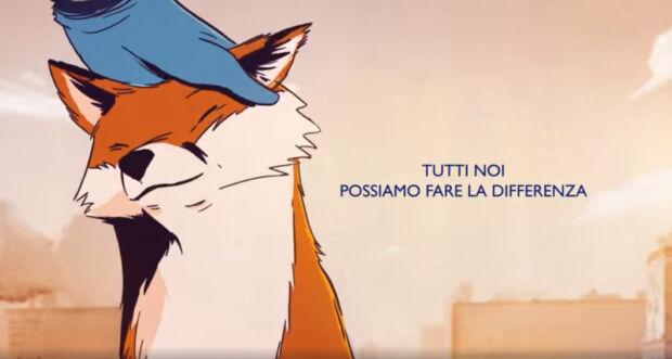 La mascotte di Foxy come simbolo di solidarietà nell'emergenza coronavirus (in un nuovo spot)