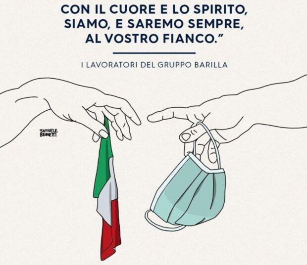 La strategia comunicativa multicanale di Barilla dall'inizio della diffusione del coronavirus in Italia