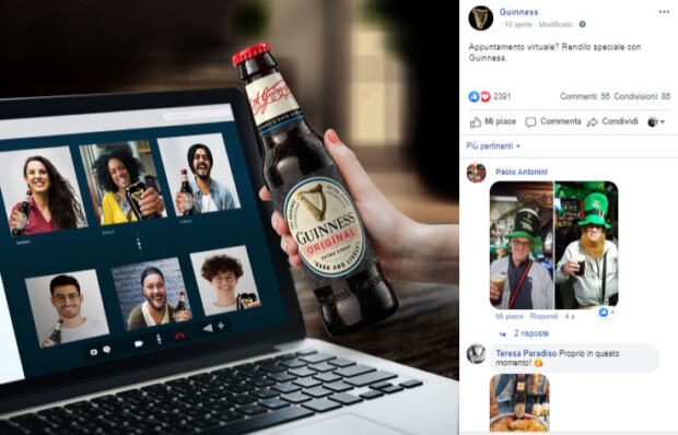 Gli appuntamenti virtuali con Guinness: : la comunicazione dei brand durante il coronavirus