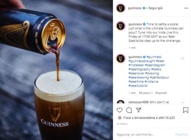 Le istruzioni per versare correttamente la birra Guinness dalla lattina: : la comunicazione dei brand durante il coronavirus