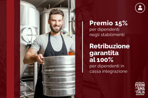 Iniziative Peroni Chiama Italia a favore dei dipendenti