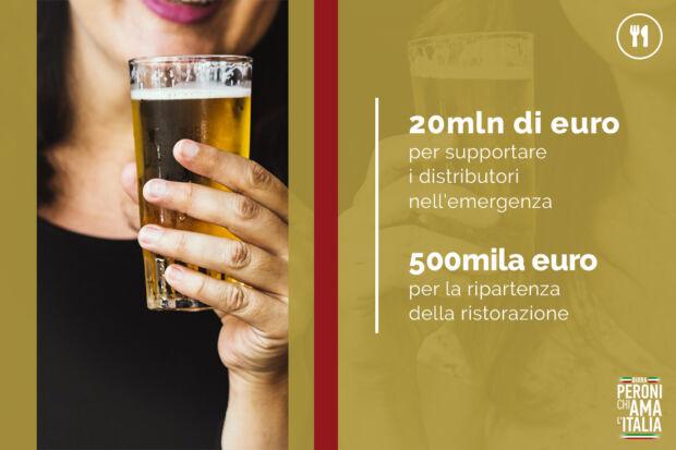 Iniziative Peroni Chiama Italia a favore dei distributori: : la comunicazione dei brand durante il coronavirus