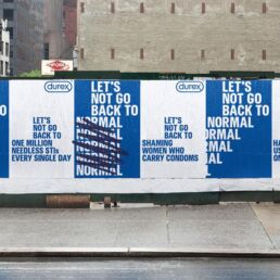 campagna durex UK let's not go back to normal billboard