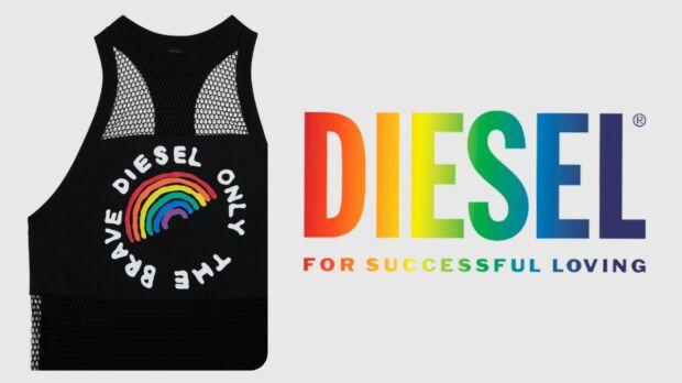 Il logo Diesel rivisitato per il Pride 2020