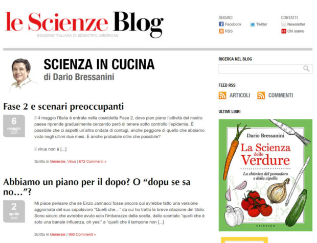 blog scientifici dario bressanini