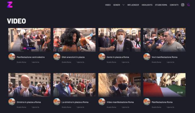 zweb tv prima tv degli influencer italiana
