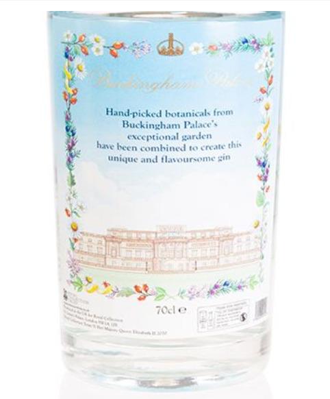 buckingham palace gin etichetta
