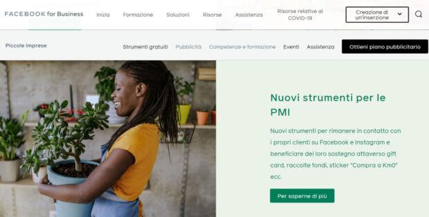 #piccolegrandimprese è l'iniziativa di Facebook per aiutare le PMI italiane nella fase di ripresa